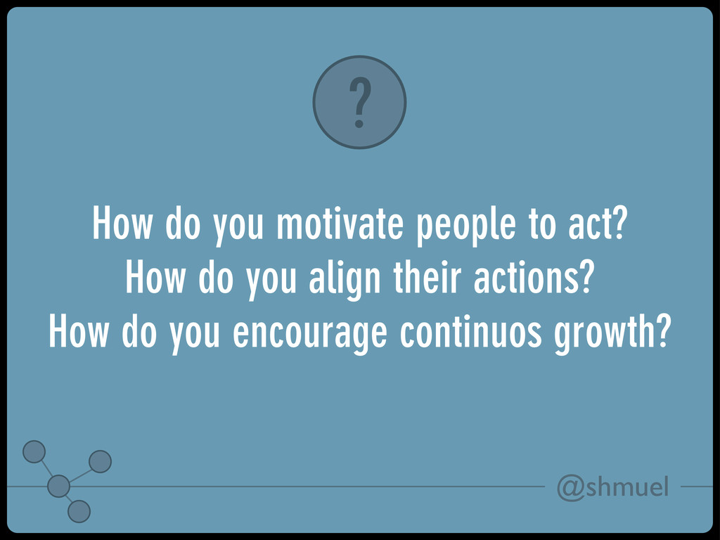 @shmuel How do you motivate people to act? How ...