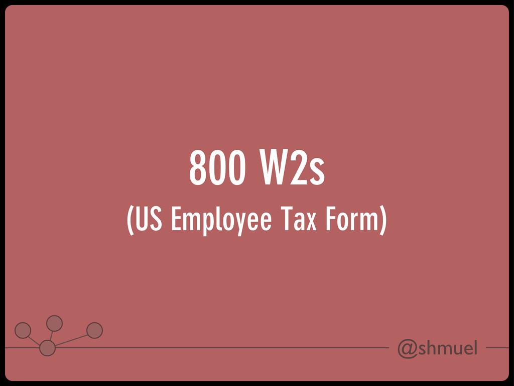 @shmuel 800 W2s (US Employee Tax Form)