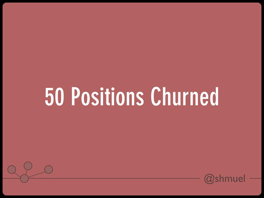 @shmuel 50 Positions Churned