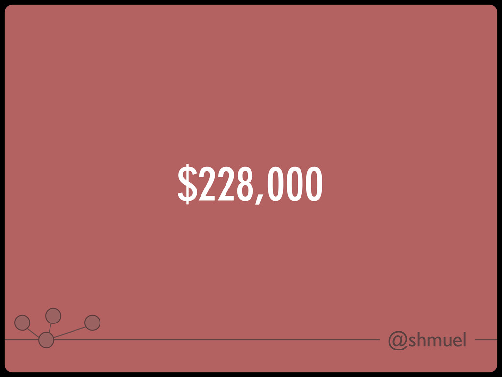 @shmuel $228,000
