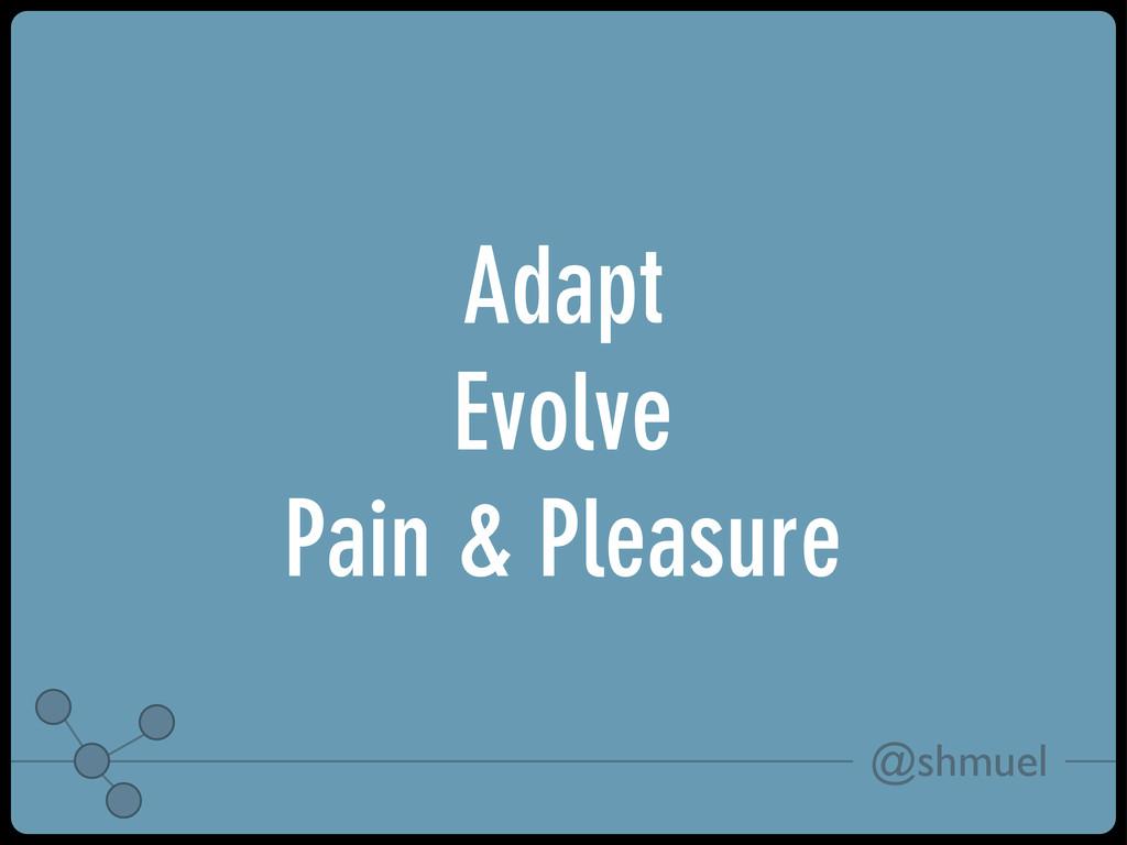 @shmuel Adapt Evolve Pain & Pleasure