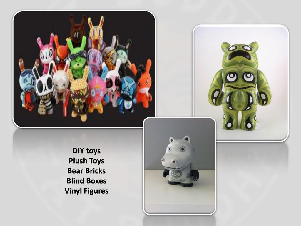 DIY toys Plush Toys Bear Bricks Blind Boxes Vin...