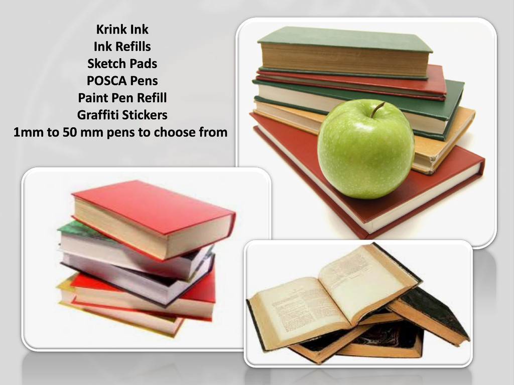 Krink Ink Ink Refills Sketch Pads POSCA Pens Pa...