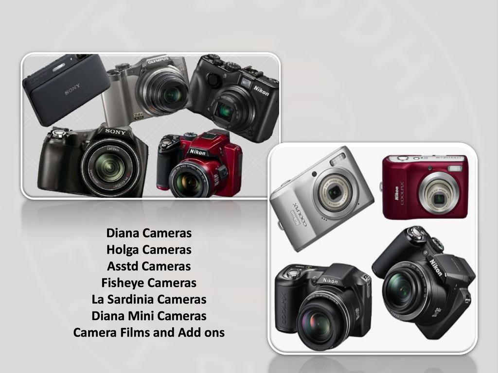 Diana Cameras Holga Cameras Asstd Cameras Fishe...