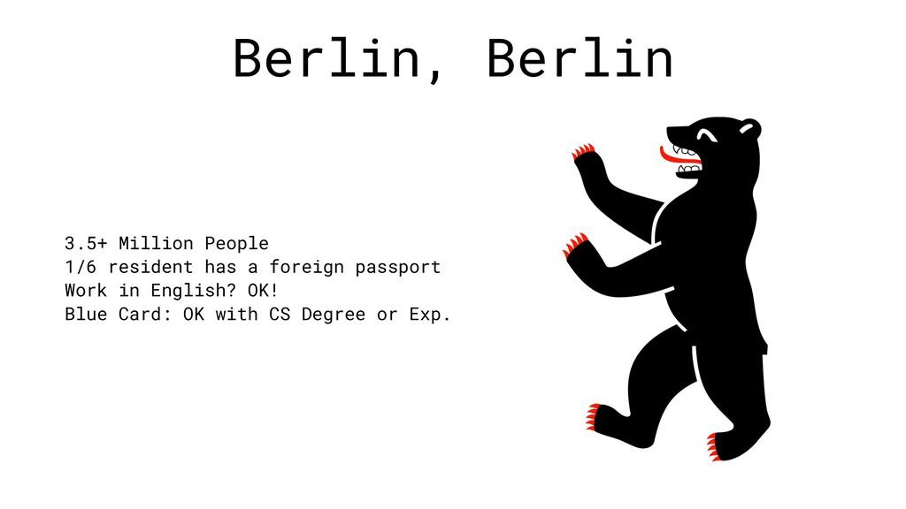 Berlin, Berlin 3.5+ Million People 1/6 resident...