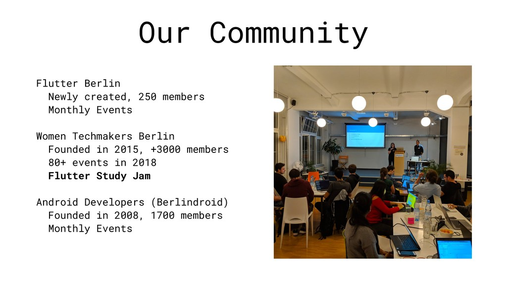 Our Community Flutter Berlin Newly created, 250...