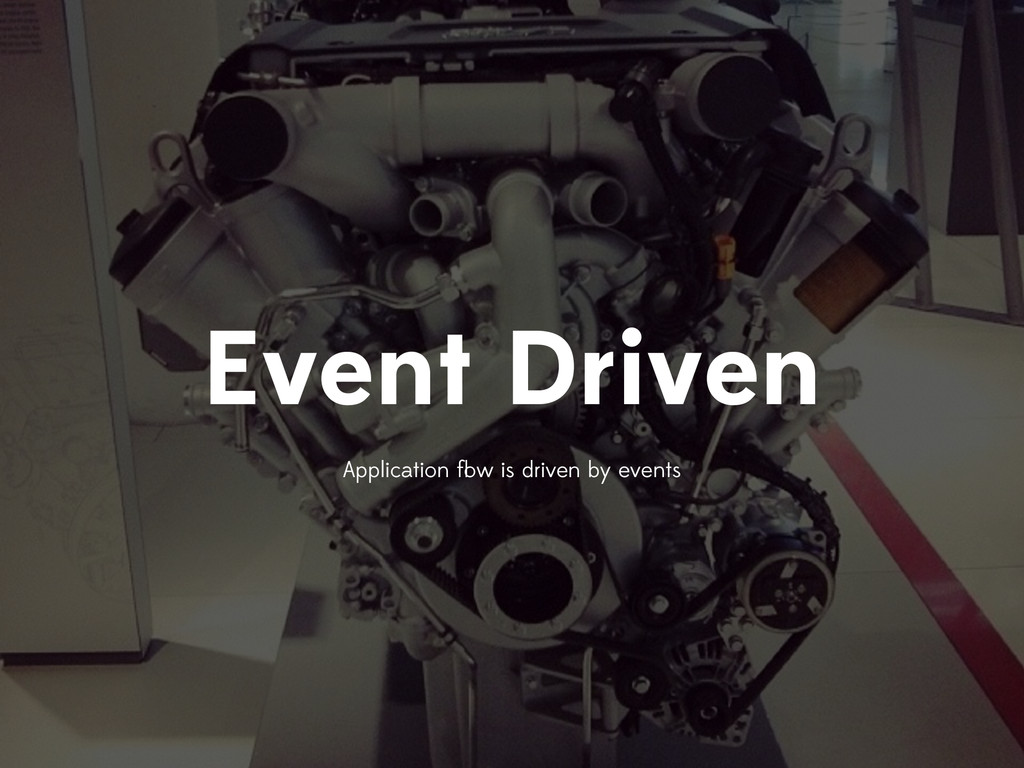 Event Driven Application flow is driven by events