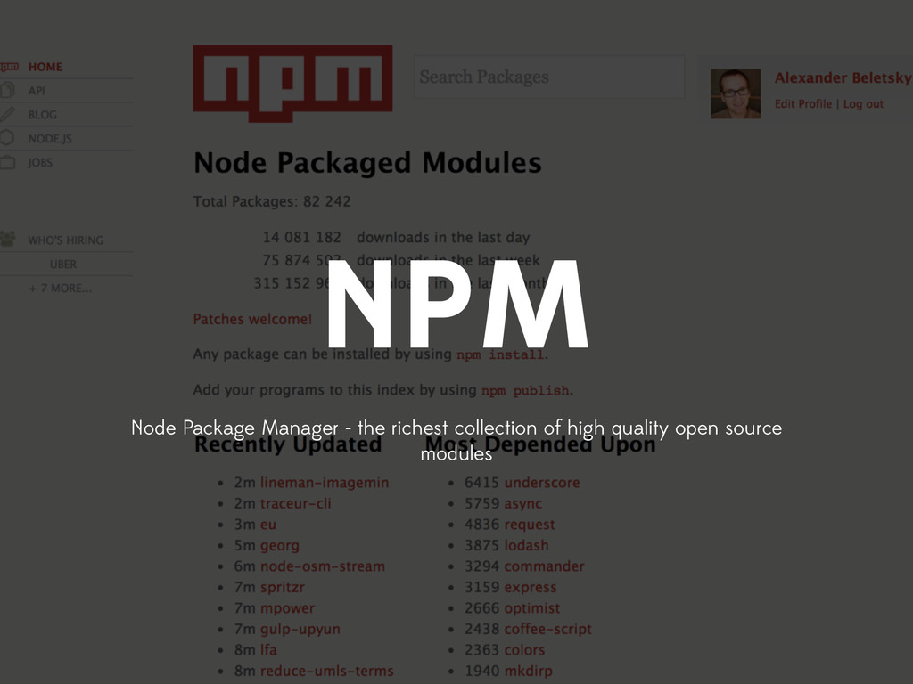 NPM Node Package Manager - the richest collecti...