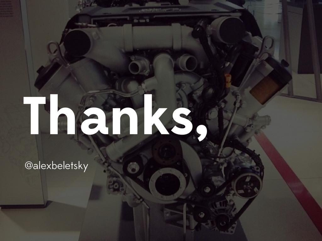 Thanks, @alexbeletsky