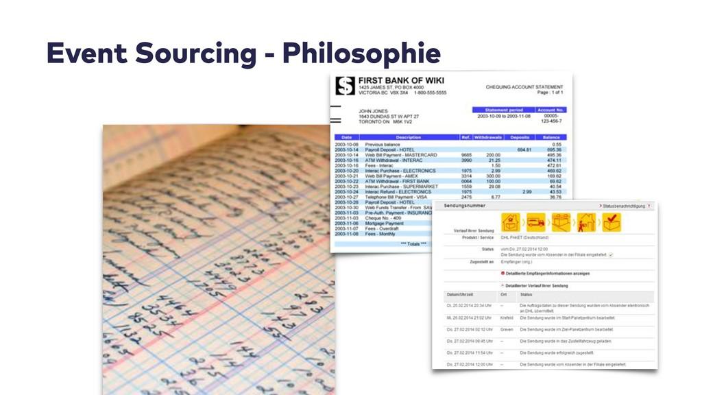 Event Sourcing - Philosophie