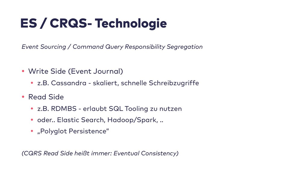 ES / CRQS- Technologie Event Sourcing / Command...