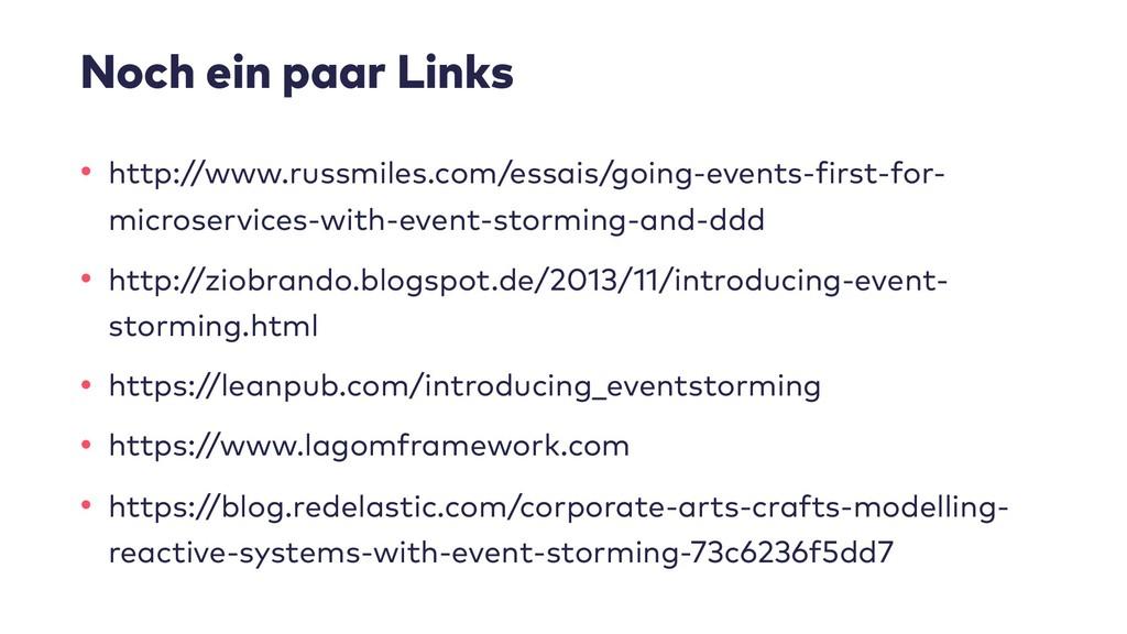 Noch ein paar Links • http://www.russmiles.com/...
