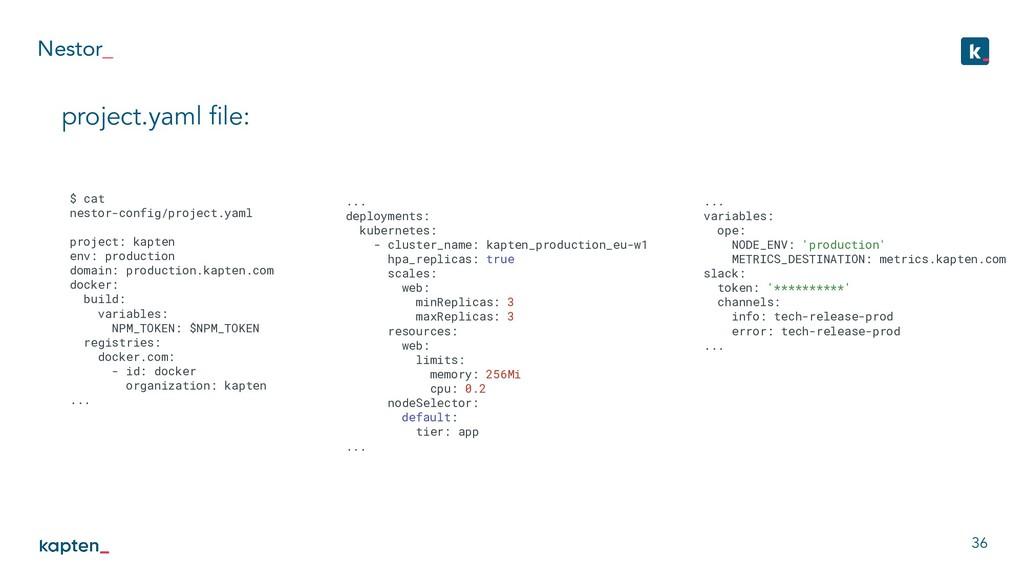 Nestor_ 36 project.yaml file: $ cat nestor-confi...