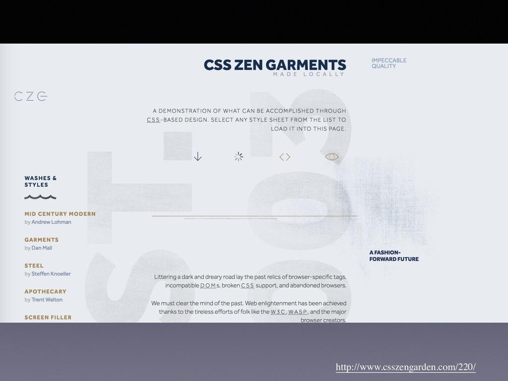 http://www.csszengarden.com/220/