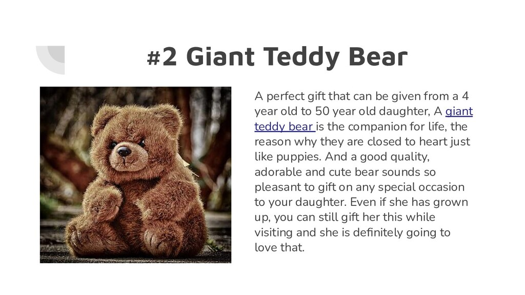 #2 Giant Teddy Bear A perfect gift that can be ...