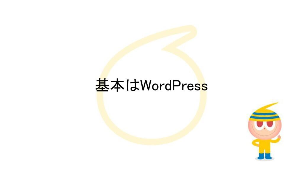 基本はWordPress