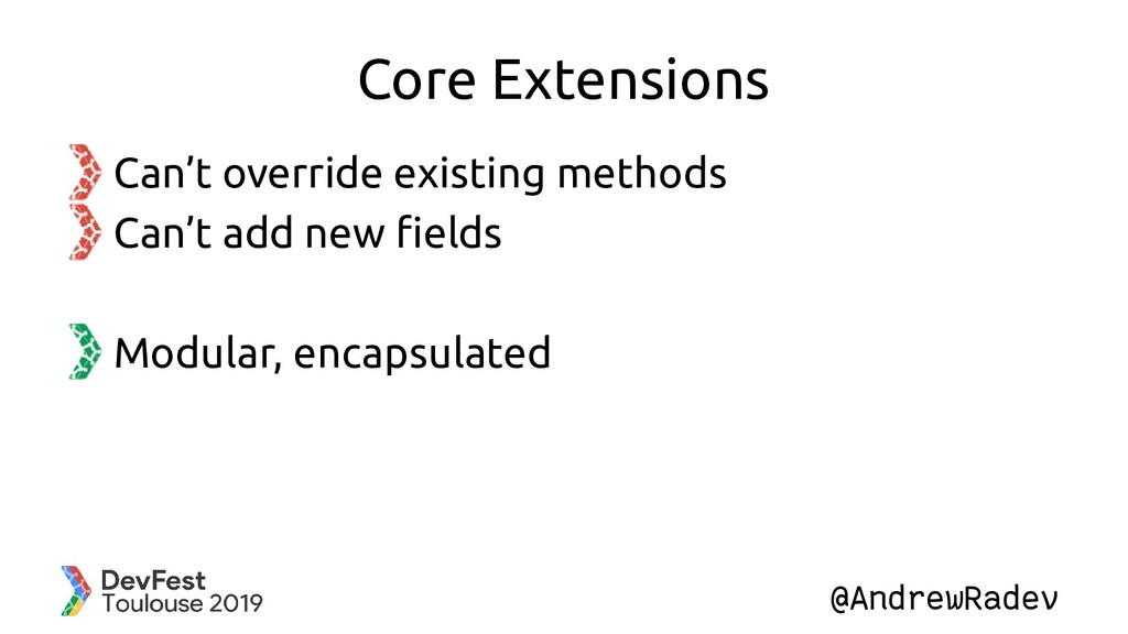 @AndrewRadev Core Extensions Can't override exi...