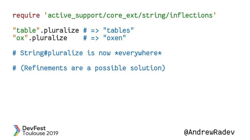 @AndrewRadev require 'active_support/core_ext/s...