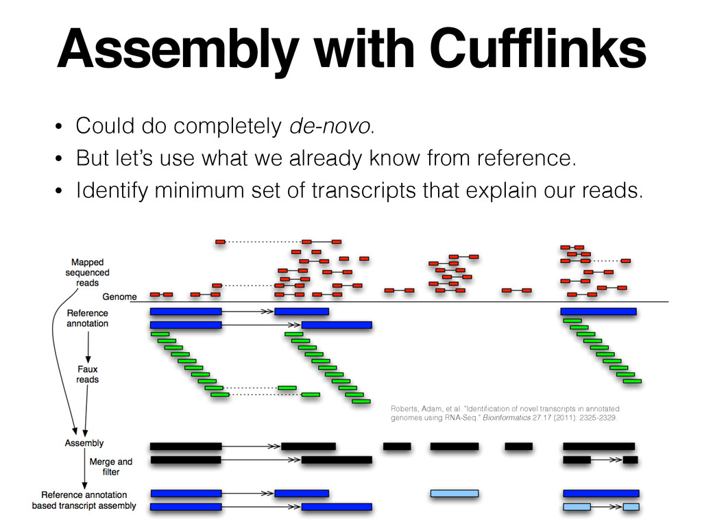 Assembly with Cufflinks • Could do completely d...