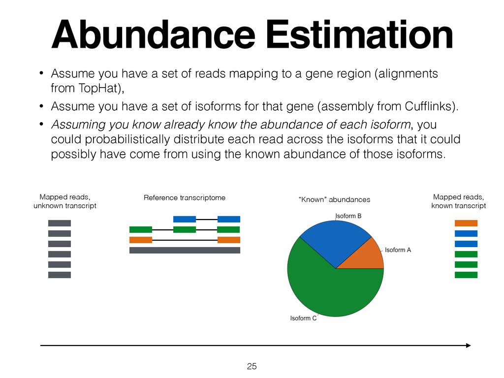 Abundance Estimation • Assume you have a set of...