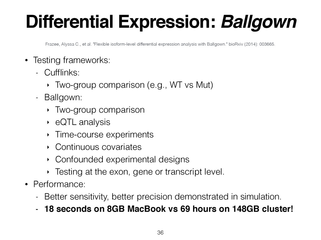 Differential Expression: Ballgown • Testing fra...