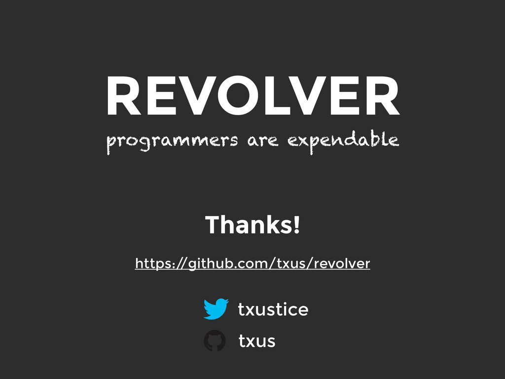 REVOLVER programmers are expendable txustice tx...
