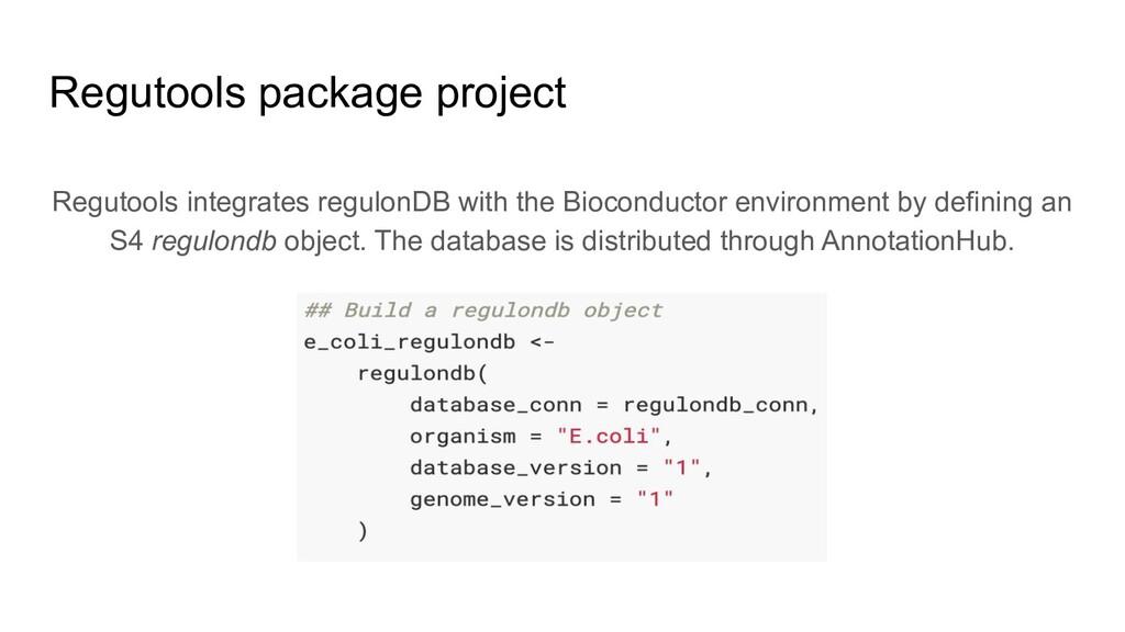 Regutools integrates regulonDB with the Biocond...