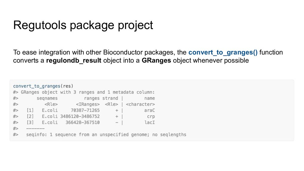 Regutools package project To ease integration w...