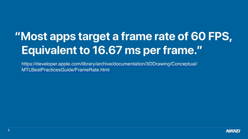 "3 ""Most apps target a frame rate of 60 FPS, Equ..."
