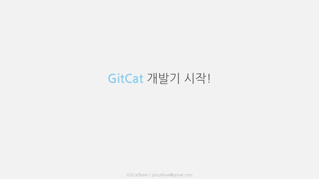 GitCat 개발기 시작! GitCatTeam / gitcatlove@gmail.com