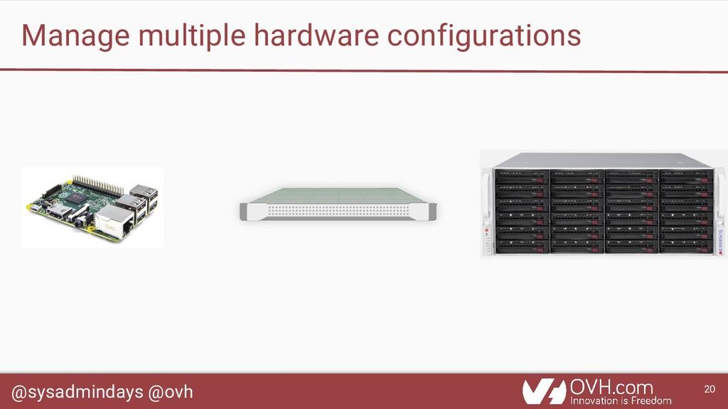 @sysadmindays @ovh 20 Manage multiple hardware ...