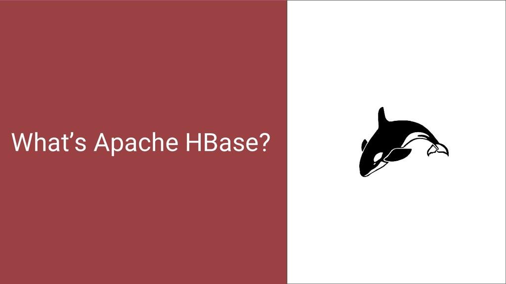 What's Apache HBase? 22