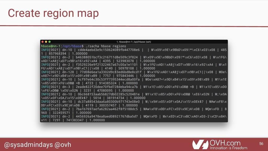 @sysadmindays @ovh 56 Create region map