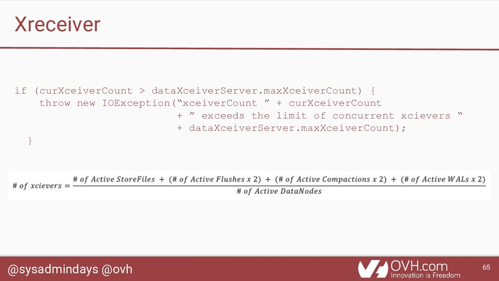 @sysadmindays @ovh 65 Xreceiver if (curXceiverC...