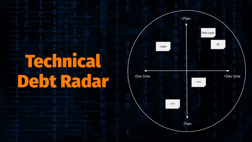 Technical Debt Radar