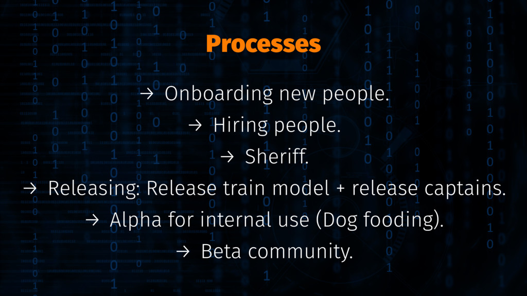 Processes → Onboarding new people. → Hiring peo...