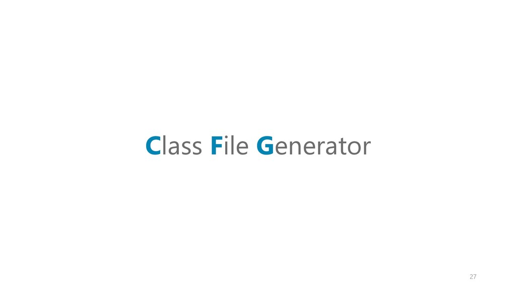 Class File Generator 27