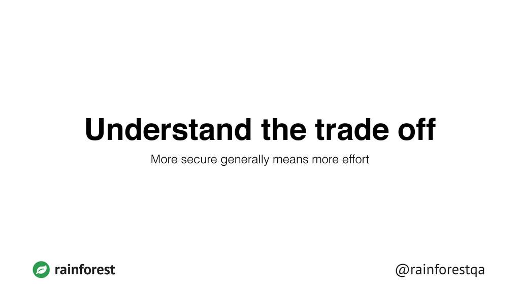 rainforest @rainforestqa Understand the trade o...