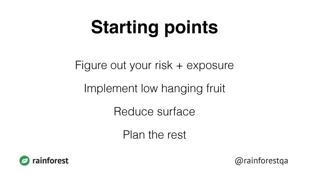 @rainforestqa rainforest Starting points Figure...