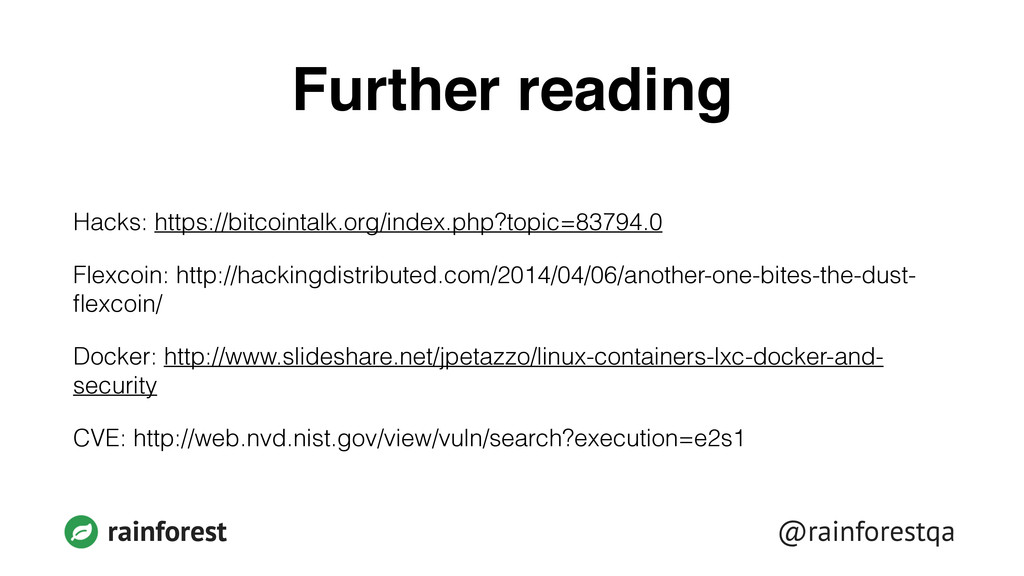 @rainforestqa rainforest Further reading Hacks:...