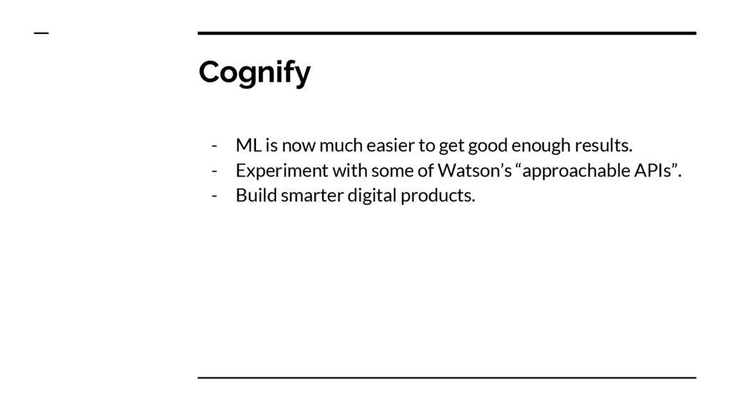 Cognify - ML is now much easier to get good eno...