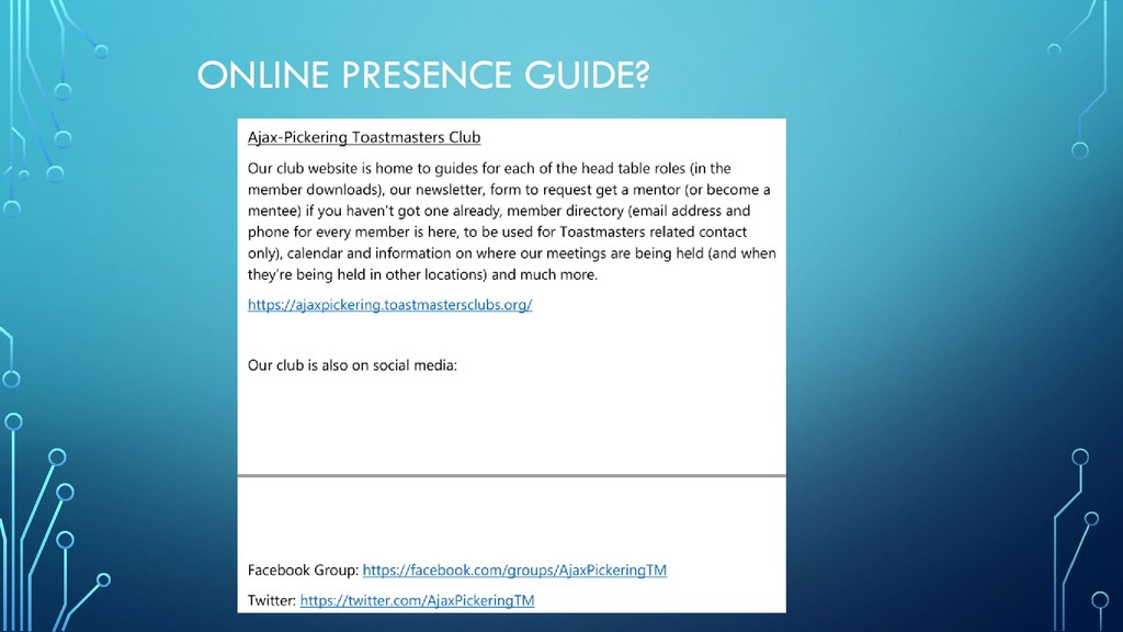 ONLINE PRESENCE GUIDE?