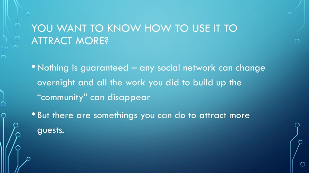 YOU WANT TO KNOW HOW TO USE IT TO ATTRACT MORE?...