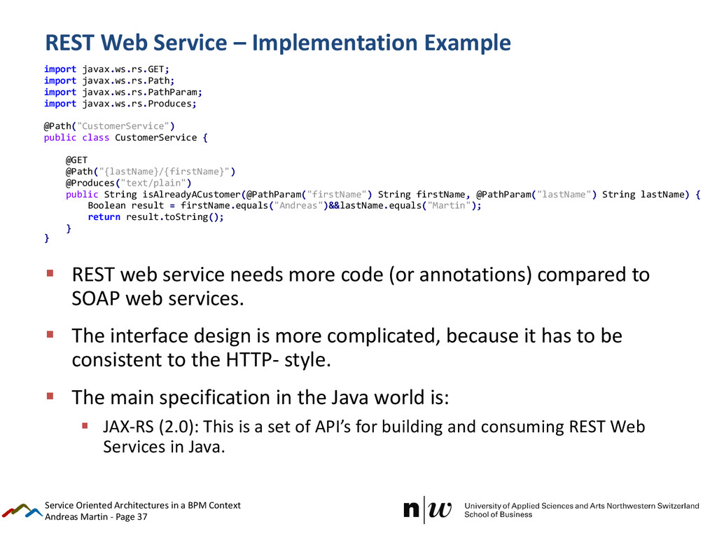 Andreas Martin - Page 37 REST Web Service – Imp...
