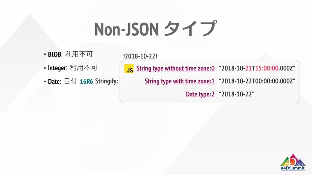 Non-JSON znƒ BLOB# Integer# Date# 16R6 String t...