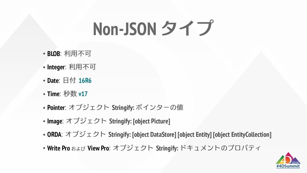 Non-JSON znƒ BLOB# Integer# Date# 16R6 Time# v1...