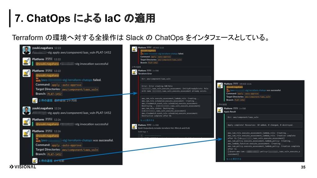 Terraform の環境へ対する全操作は Slack の ChatOps をインタフェースと...