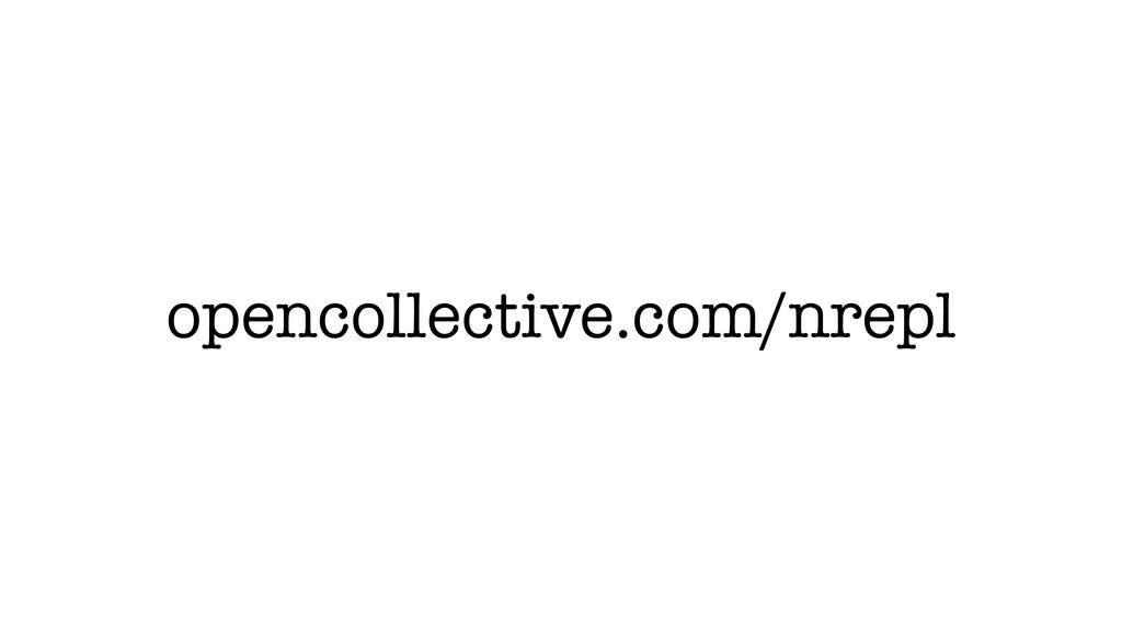 opencollective.com/nrepl