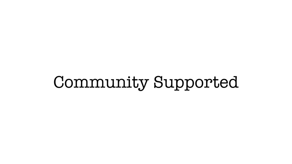 Community Supported