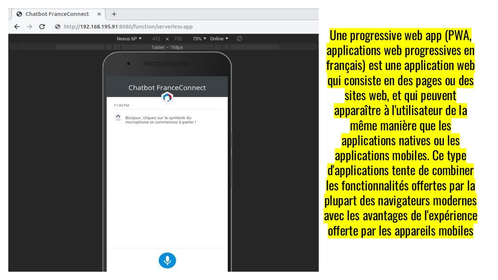 Une progressive web app (PWA, applications web ...
